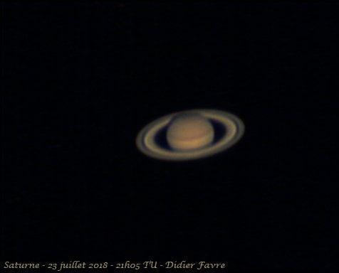 Saturne, hier soir