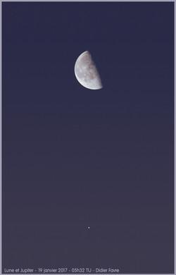 Conjonction Lune-Jupiter - 19 janvier 20