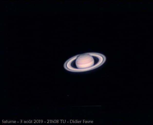 Saturne le 3 août 2019 lors de la Nuit d