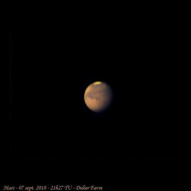 #Mars hier soir alors que nous la fuyons