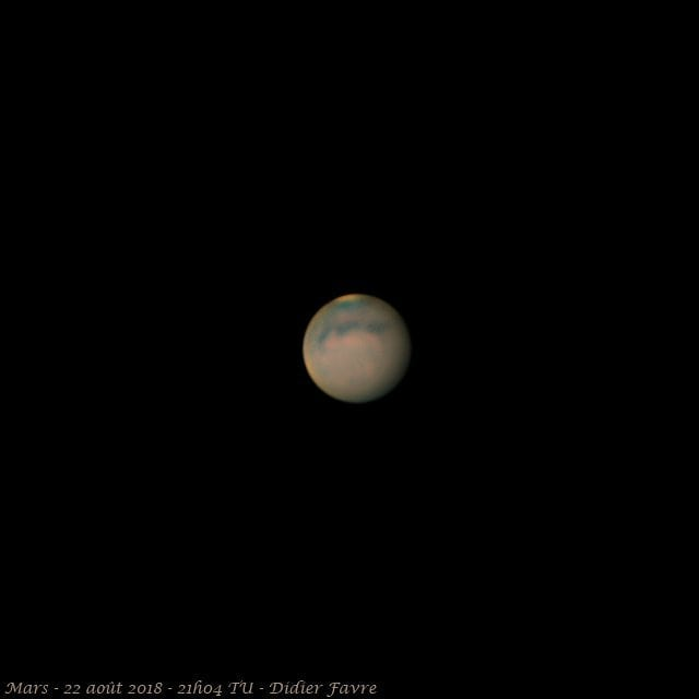 #mars gibbeuse en projection oculaire  #