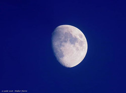 La #lune hier avant la nuit