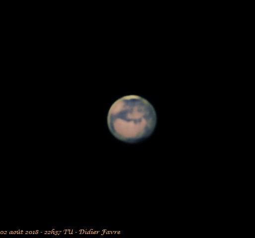 Ma meilleure image de Mars pour cette an