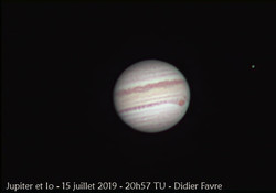 Jupiter et son satellite galiléen le plu