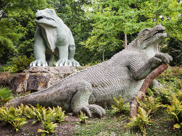 As part of Heritage Open Days, you can get a guided tour of Dino Island in Crystal Palace Park