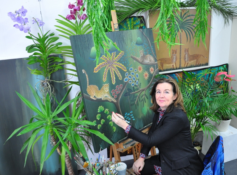 An artist at Wimbledon Art Studios showcases her immersive art studio as part of the forthcoming Wimbledon Art Fair, this November