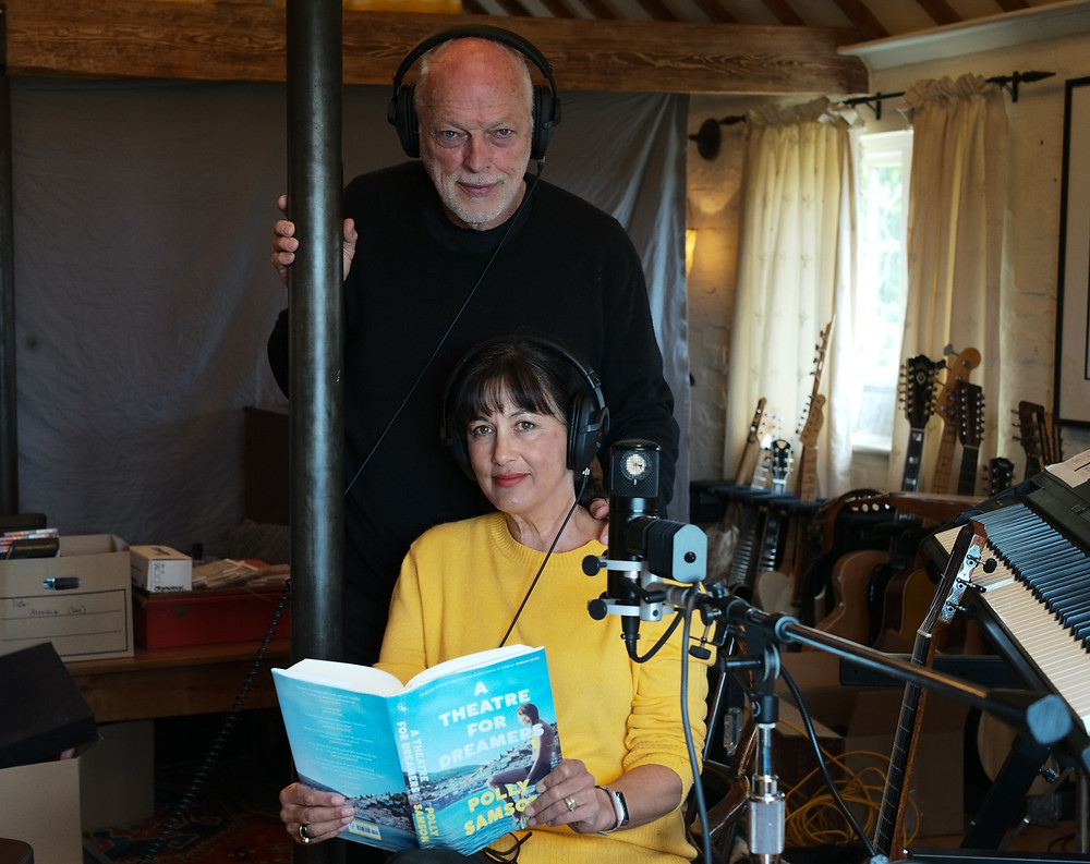 Bestselling author Polly Samson and husband David Gilmour, the Pink Floyd lead singer and guitarist, join forces in the studio to record the audiobook for A Theatre for Dreamers