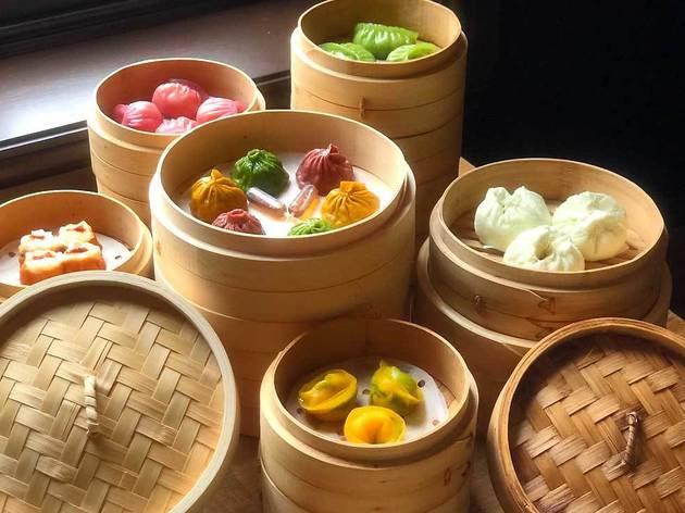 Tasty treats on offer at the opening of Baozilnn's new restaurant in London Bridge