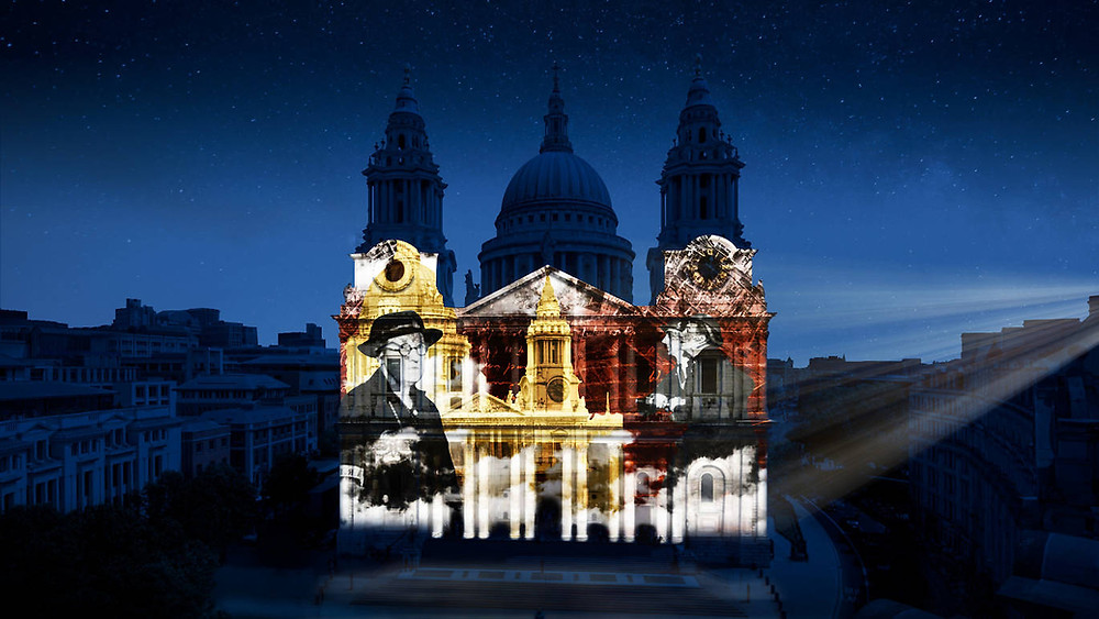 Where Light Falls is a stunning new light show on the facade of St Paul's cathedral, organised by Historic England