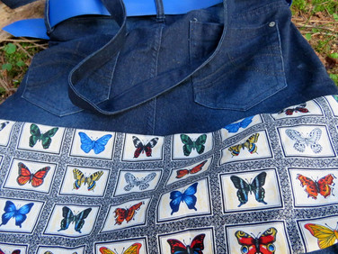 Tasche Schmetterling Upcycling