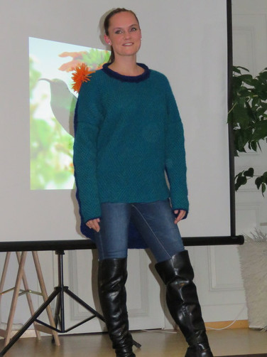 Pulover Afrika Vögel Modeevent Münsingen