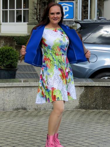 Kleid bunt