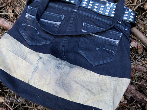 Tasche Holzmotiv Upcycling