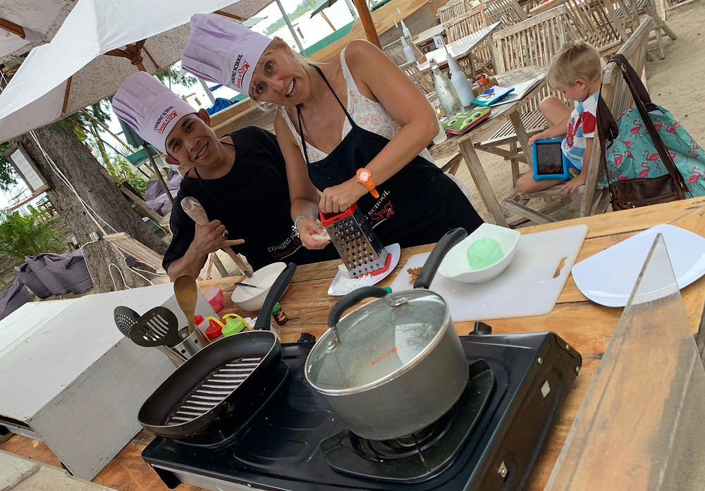 Learn how to cook like the locals with this beachfront Indonesian cooking class on Gili T.