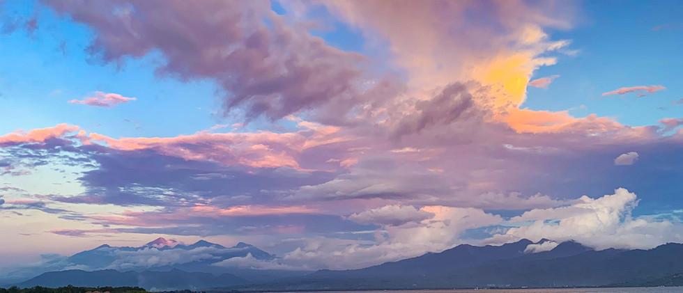 Sunset over Lombok
