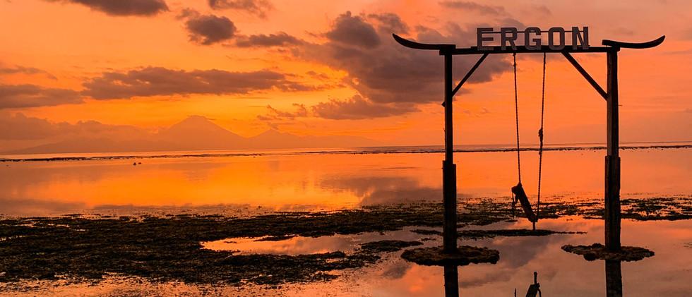 Gili Swing Sunset