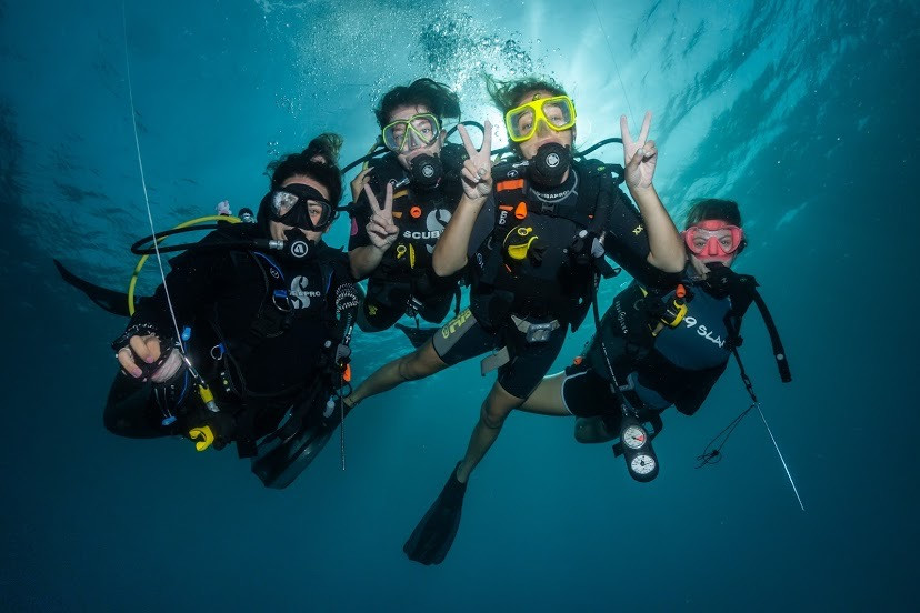 Not all classrooms have walls. Learn to become a certified scuba diver from the pool and in the open waters of the ocean.