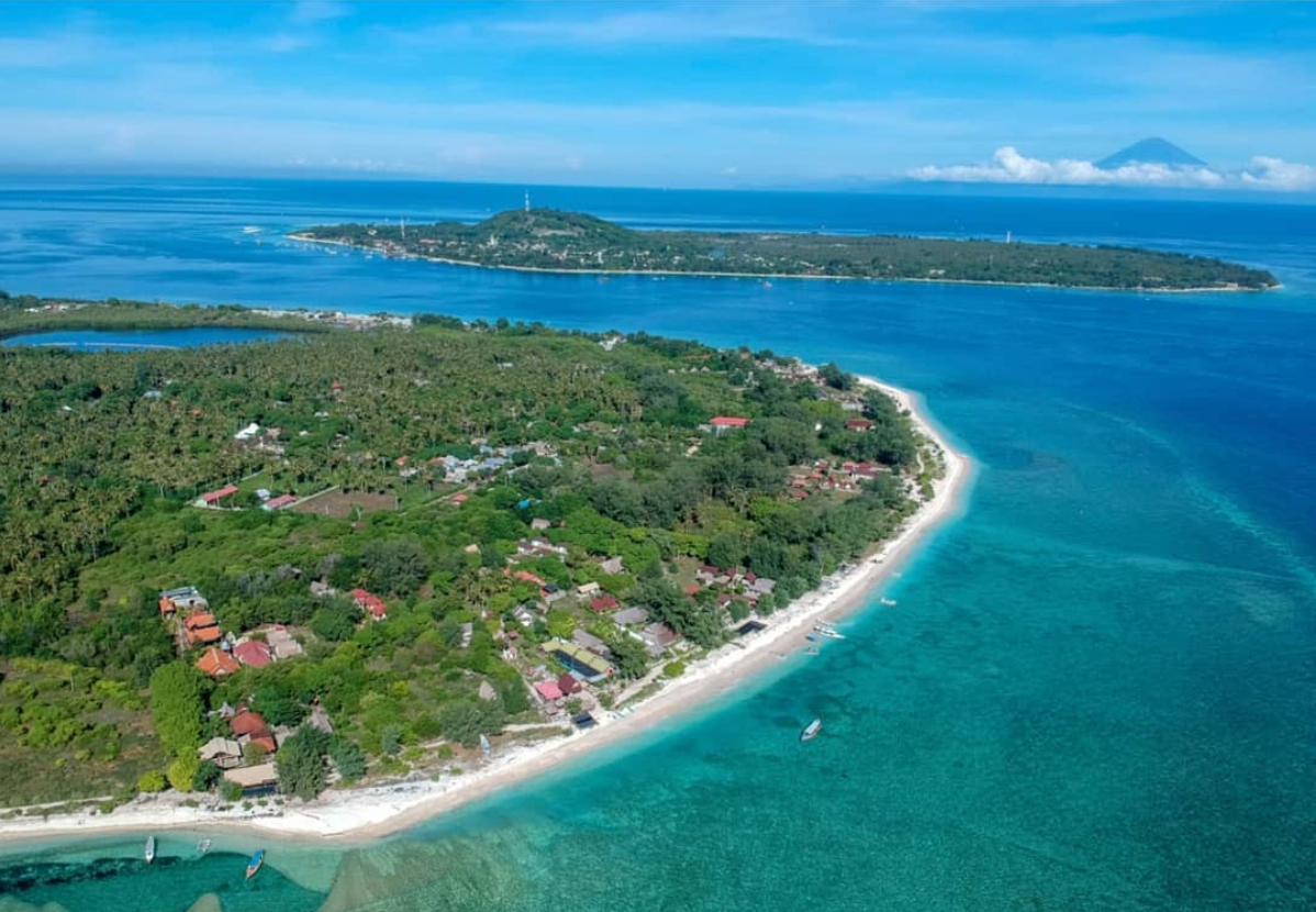 Gili T from the Air