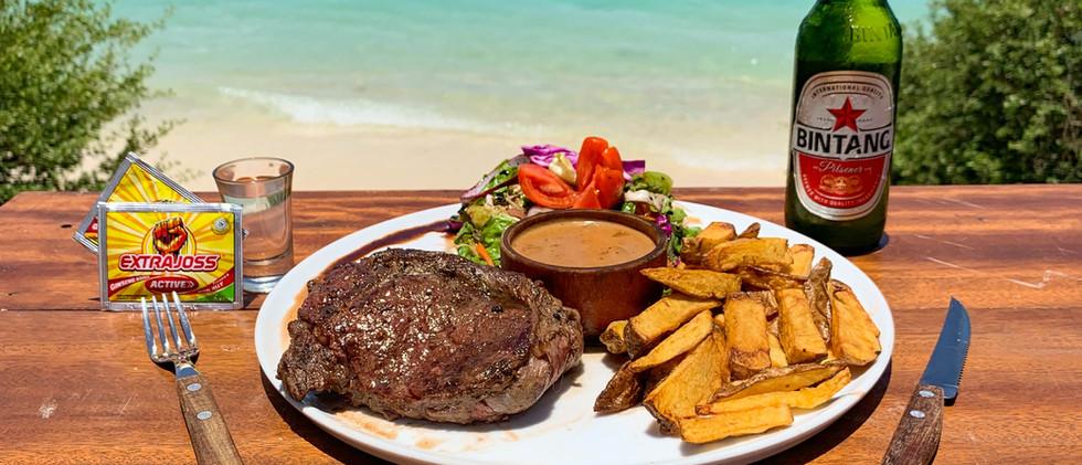 Australian Ribeye Steak, Joss & Bintang
