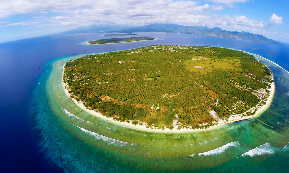 Gili Trawangan is infamous for its crystal clear turquoise water and white sand beaches. Dip your toes in the sand and see for yourself!