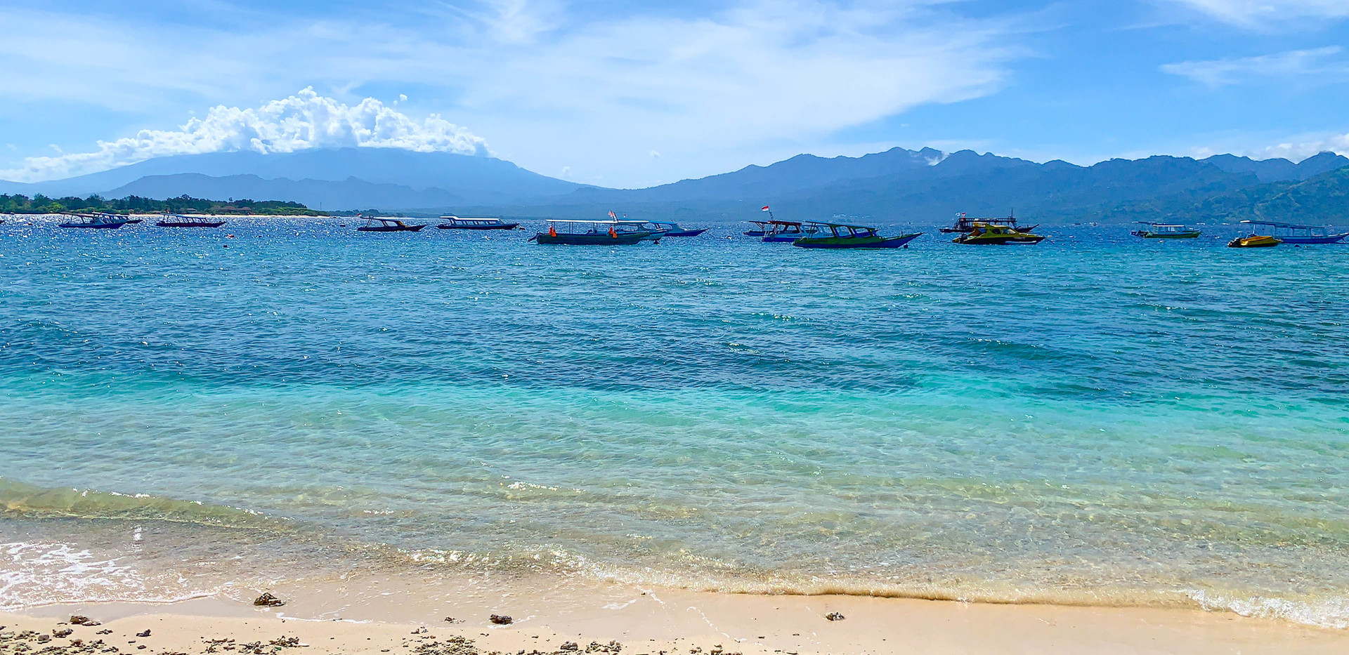 View of Lombok from our Beachfront Patio