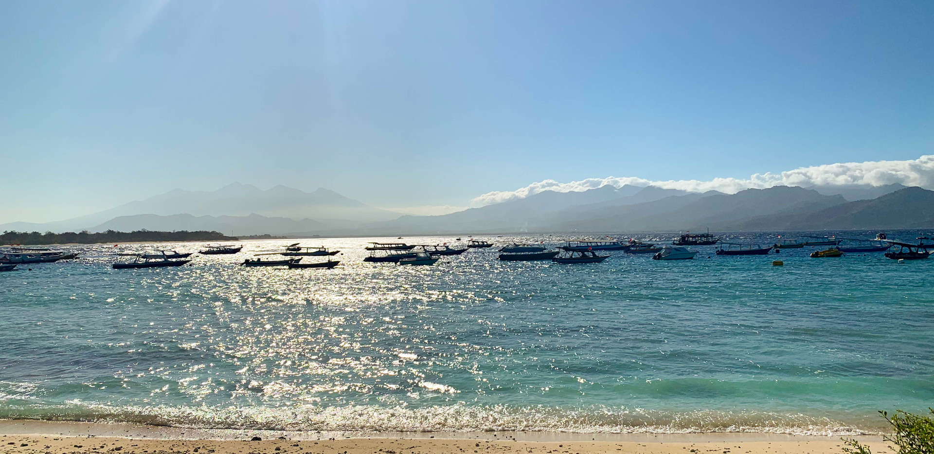 View of Lombok from Gili T