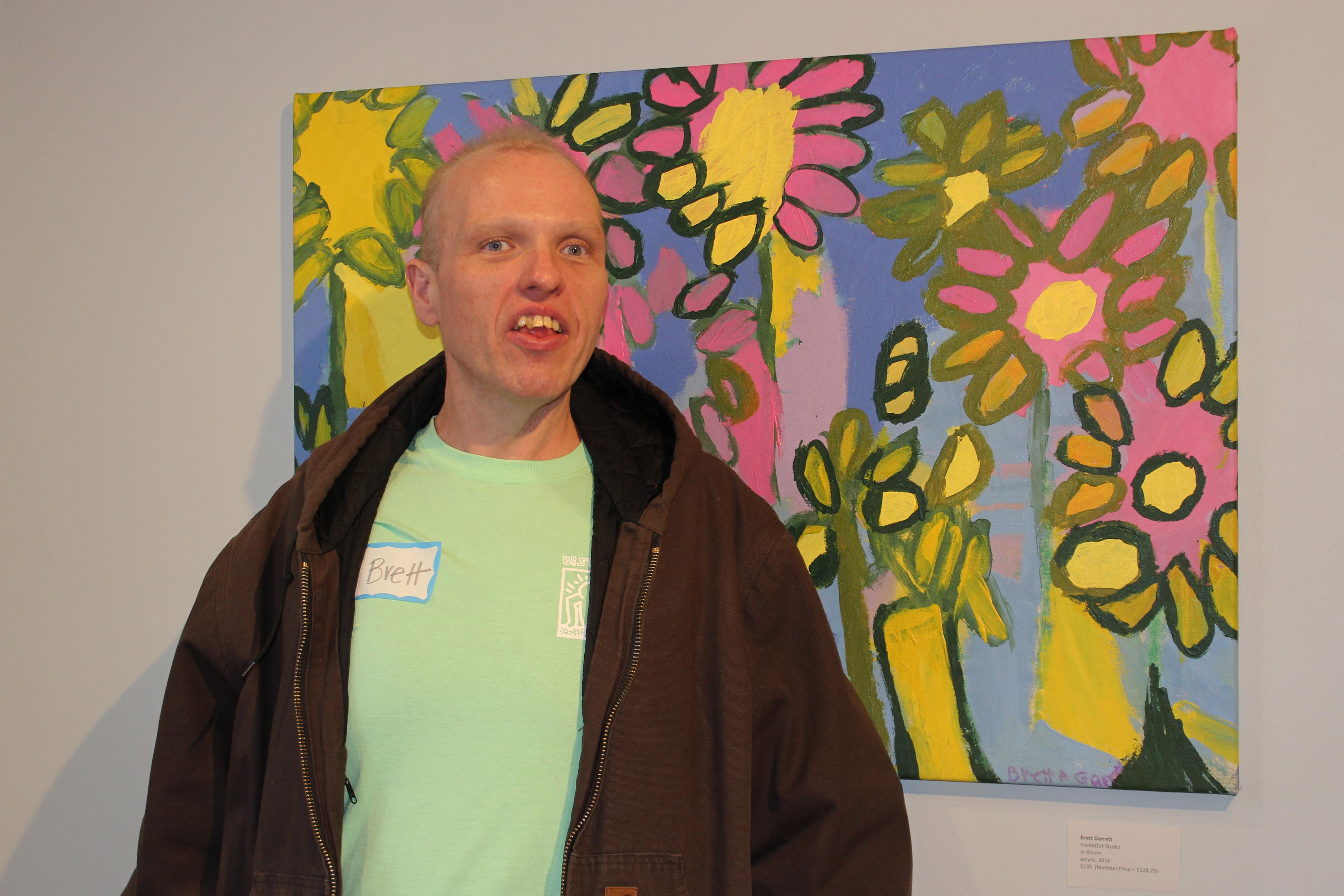 Brett at the Wherefore Art Reception