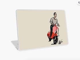 Vinilo para ordenador portatil moto vesp