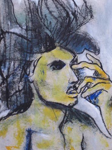 Retrato en amarillo
