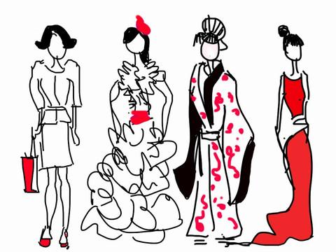 Boceto moda