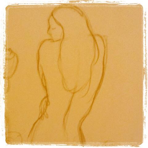 Boceto desnudo mujer