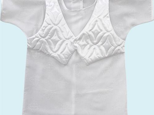 Крестильная рубашка и берет премиум
