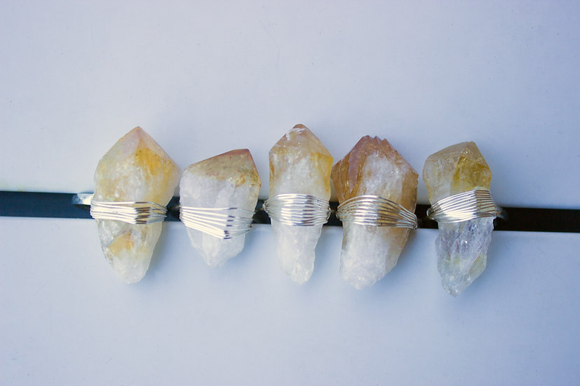 Oracle Crystal Ring in Citrine