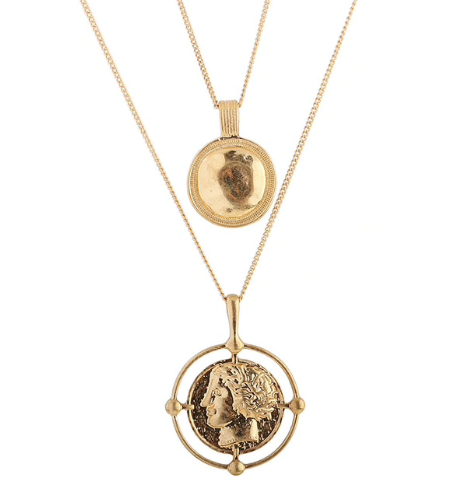 Sol Coin Necklace Gold