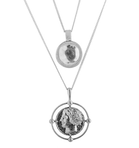 Sol Coin Necklace Silver