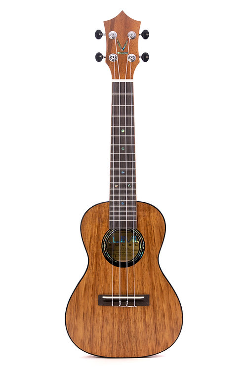 Kumu 4 String Concert Feather Hawaiian Koa TUX Finish Ukulele