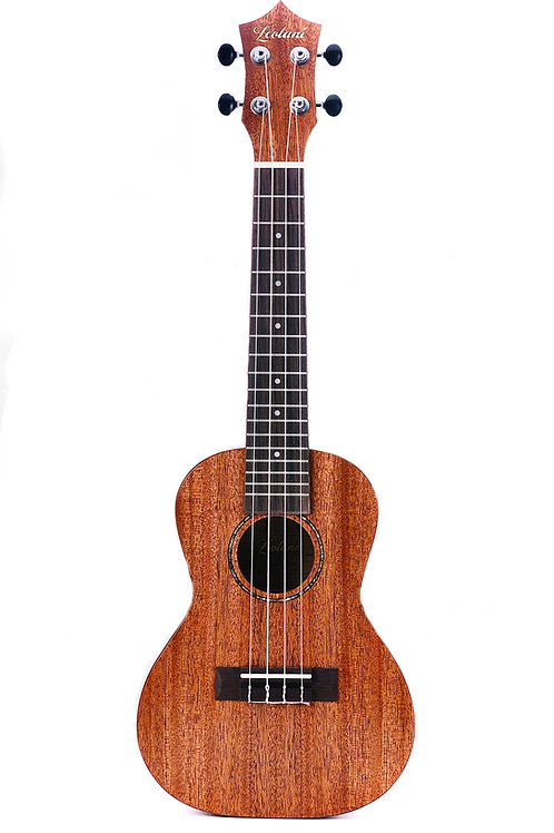 Leolani 4 String Concert Solid Top Mahogany TUX Finish Ukulele