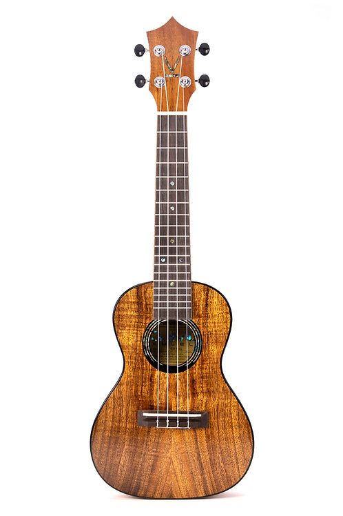 Kumu 4 String Concert Hawaiian Koa TUX Finish Ukulele