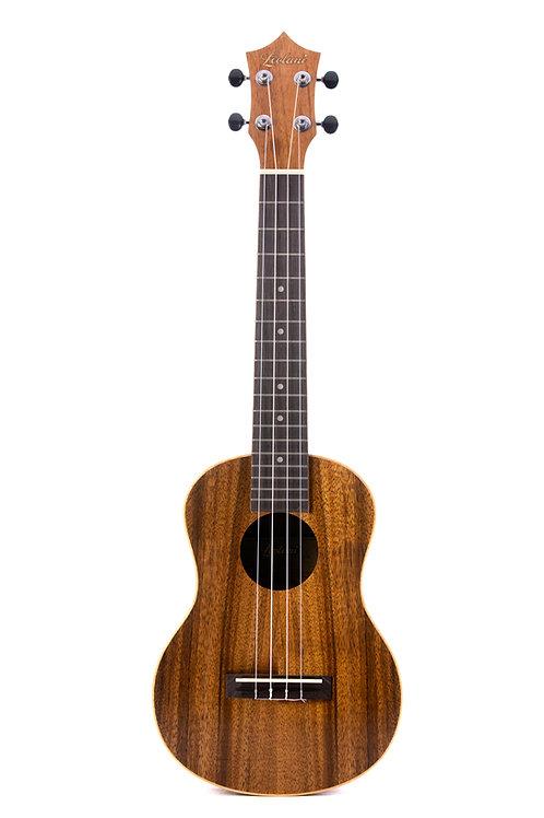 Leolani 4 String Concert Hawaiian Koa TUX Finish Ukulele