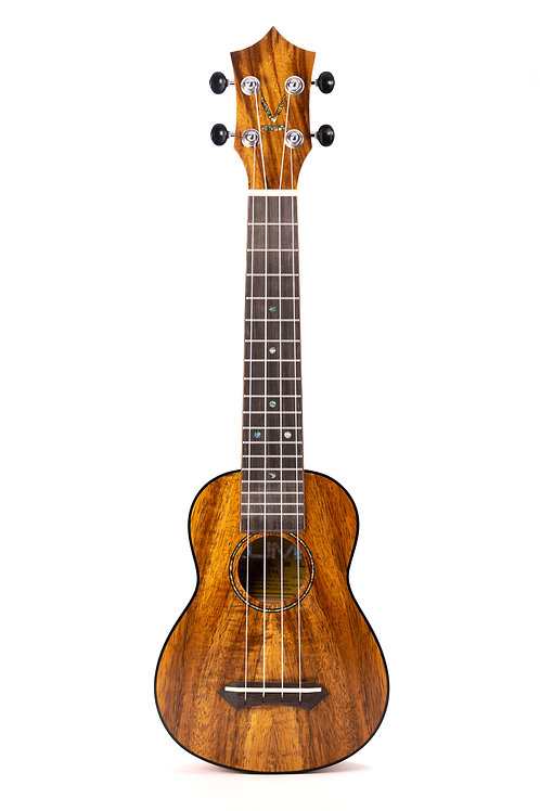 Kumu 4 String Soprano Longneck Hawaiian Koa TUX Finish Ukulele