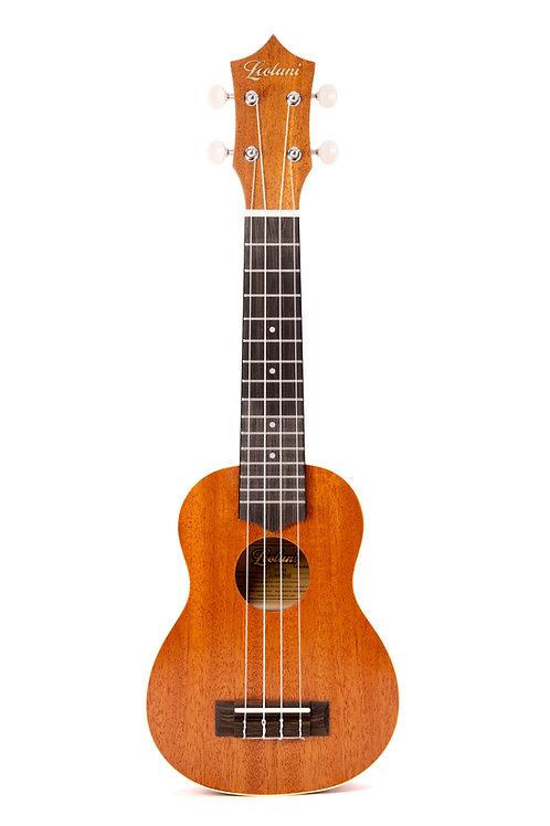 Leolani 4 String Soprano Mahogany Ukulele with Ivoroid Binding