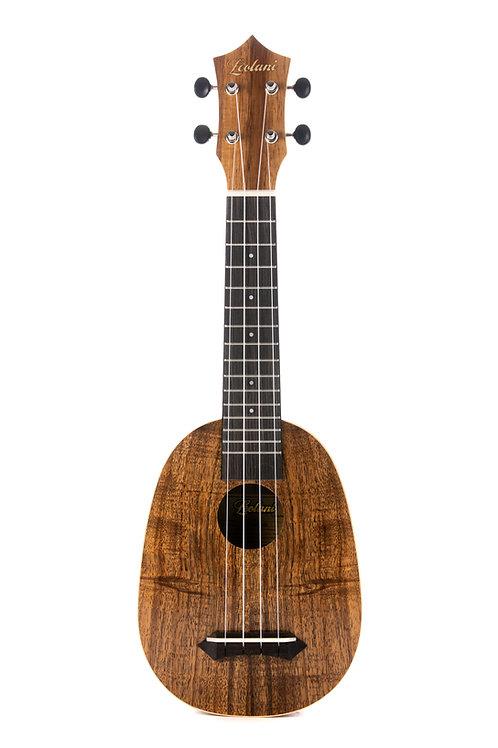 Leolani 4 String Soprano Hawaiian Koa Pineapple TUX Finish Ukulele