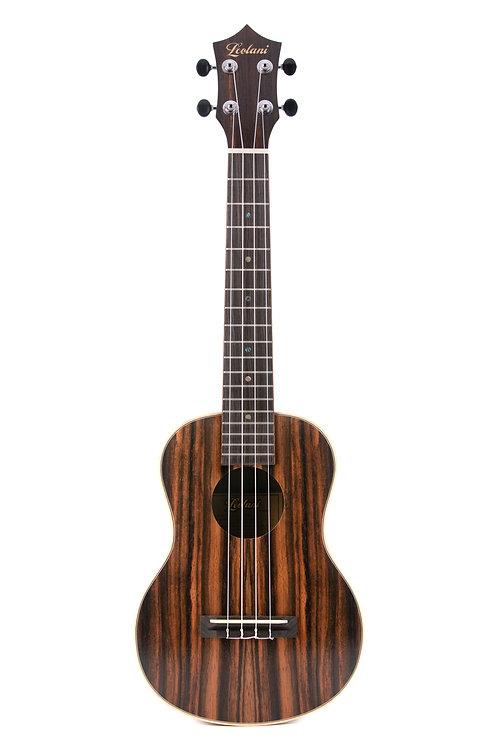 Leolani 4 String Tenor Macassar Ebony TUX Finish Ukulele