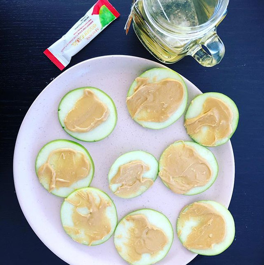 Green apple and smooth peanut butter is