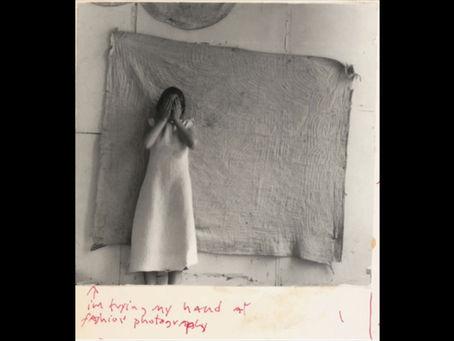 """i'm trying my hand at fashion photography."" Francesca Woodman. Providence, Rhode Island. 1977."