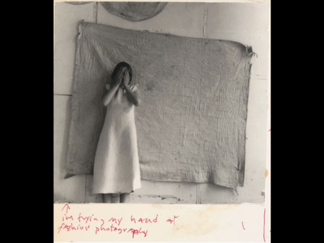 """i'm trying my hand at fashion photography."" Francesca Woodman. Providence, Rhode Island. 1977."