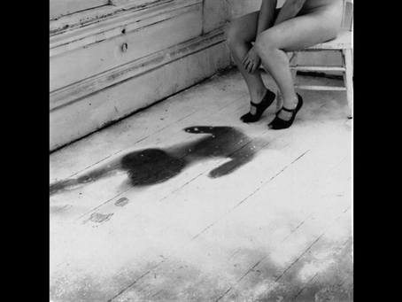 """telephone scatalogia."" Inspired by Francesca Woodman, ""House #3,"" 1976."