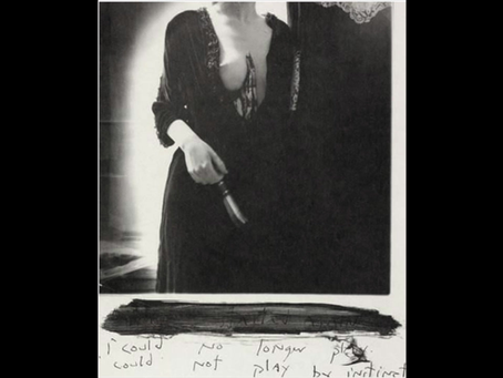 """i could not longer// i could not play by instinct."" Francesca Woodman. RISD,1977."