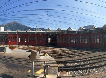 Besuch im Rail Control Center und den Betriebswerkstätten der RhB in Landquart