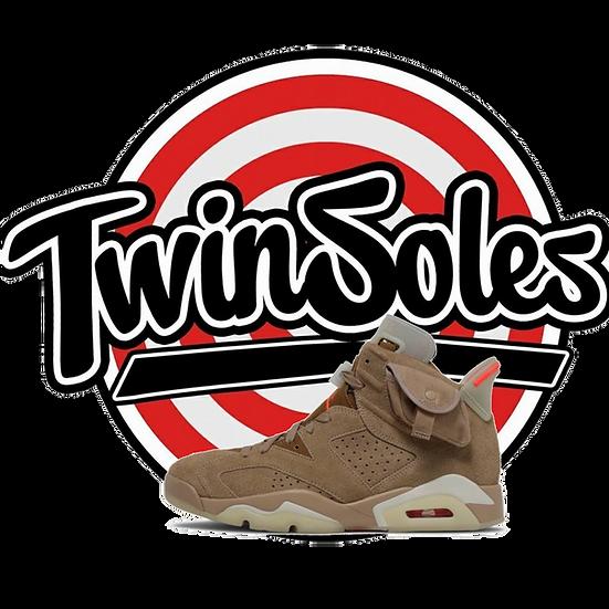 "Jordan Retro 6 x Travis Scott ""British Khaki"""